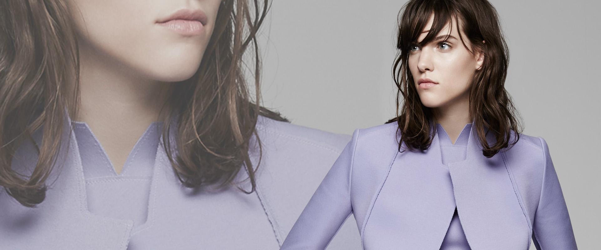 Fashion Designer Purple Vest Marie Saint Pierre Fall