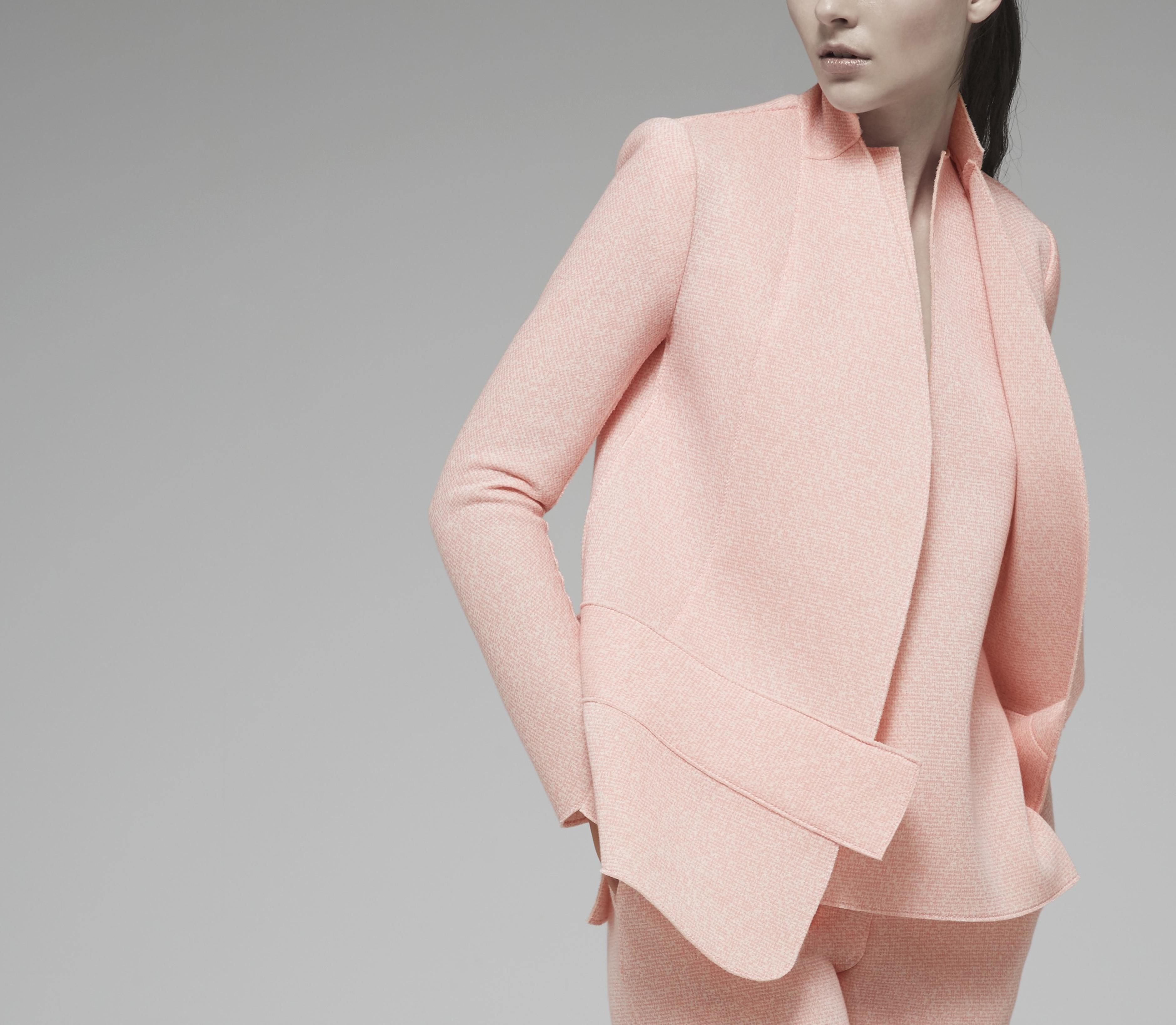 Pink Tweed Vest